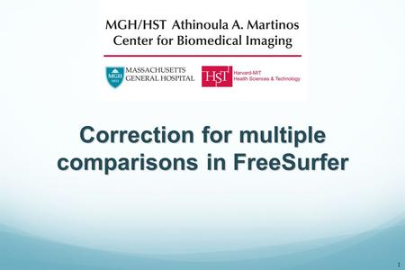 Correction for multiple comparisons in FreeSurfer