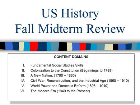 US History Fall Midterm Review. Unit 1: Colonization.