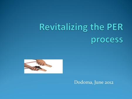Dodoma, June 2012. Plan of the presentation  Finding of the PER Workshop in Washington D.C.  What to change?  Five proposals to improve the process.