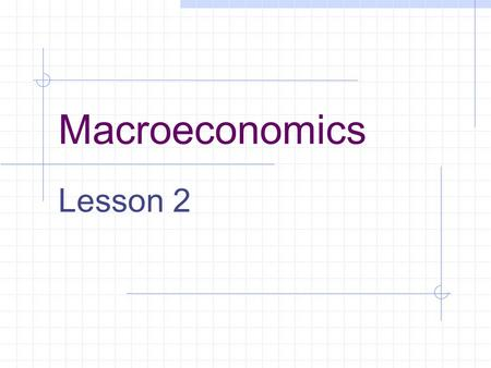 Macroeconomics Lesson 2. Topics 1. Homework 2. Review Supply and Demand 3. Floors and Ceilings 4. Elasticity.