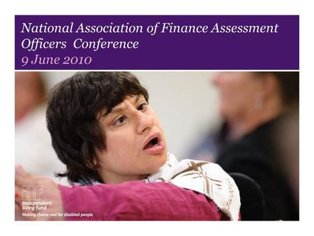 National Association of Finance Assessment Officers Conference 9 June 2010.