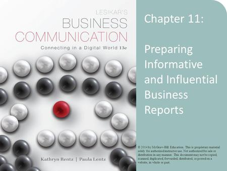 Preparing Informative and Influential Business Reports