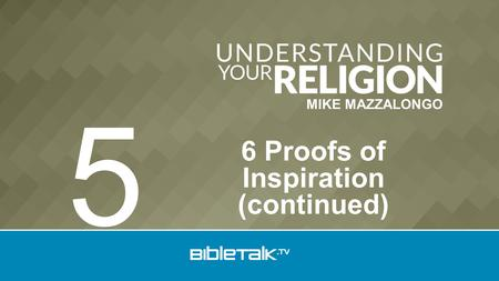 MIKE MAZZALONGO 6 Proofs of Inspiration (continued) 5.