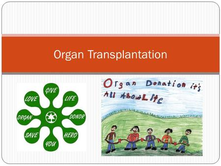 Organ Transplantation. Think of a couple reasons why you might need an organ or tissue transplant? Then click to compare your reasons… You may need an.