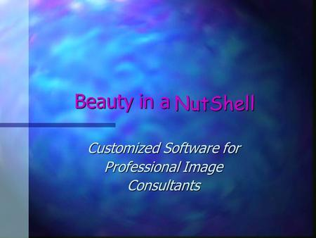 Beauty in a Customized Software for Professional Image Consultants NutShell.