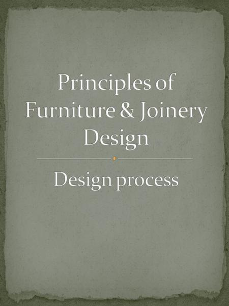 When considering making a custom piece of furniture the design phase is probably more important than the manufacturing phase as this offers you the opportunity.