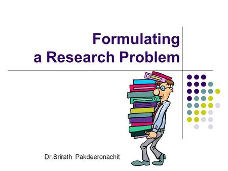formulating thesis problem Narrowing the scope of your thesis can be time-consuming paradoxically, the more you limit the scope, the more interesting it becomes this is because a narrower scope lets you clarify the problem and study it at greater depth, whereas very broad research questions only allow a superficial treatment.