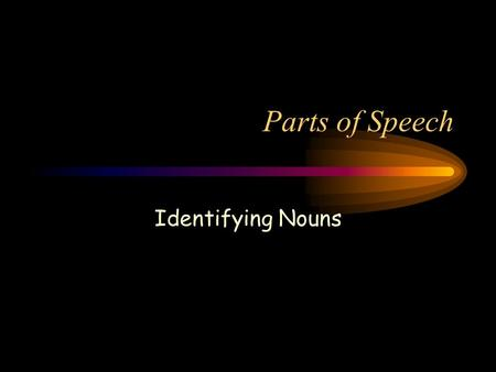 Parts of Speech Identifying Nouns. A noun is a ___________, ___________, or ___________.