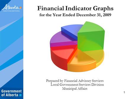 1 Financial Indicator Graphs for the Year Ended December 31, 2009 Prepared by Financial Advisory Services Local Government Services Division Municipal.