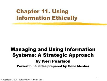 managing and using information systems a strategic approach pdf download