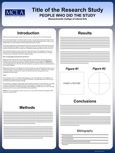 "We hope you find this template useful! This one is set up to yield a 48x36"" (4x3') Vertical poster. We've put in the headings we usually see in these posters,"