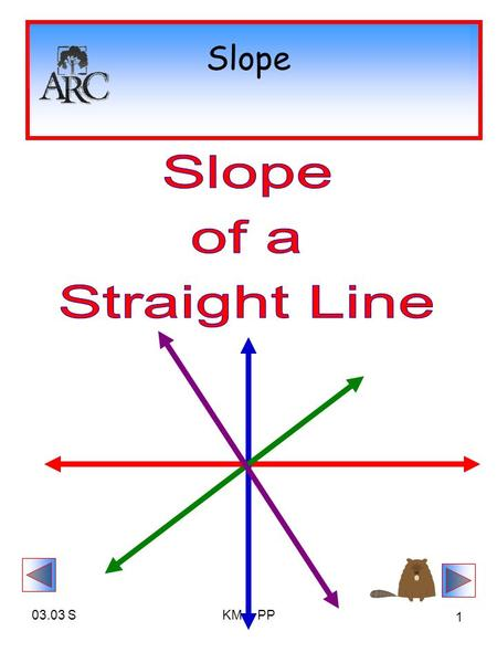 03.03 SKM & PP 1 Slope. 03.03 SKM & PP 2 Definition: Slope The slope of the line containing points P 1 (x 1, y 1 ) and P 2 (x 2, y 2 ) is given by The.