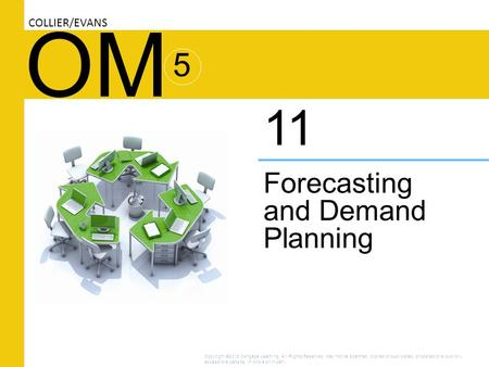 OM Forecasting and Demand Planning 11 COLLIER/EVANS 5 Copyright ©2016 Cengage Learning. All Rights Reserved. May not be scanned, copied or duplicated,