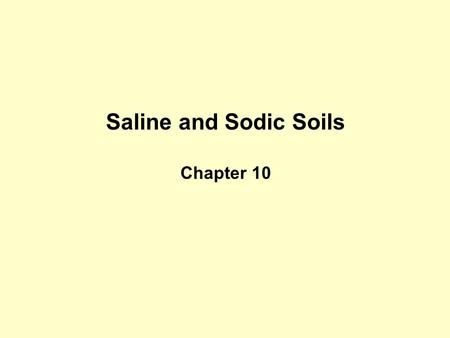 Saline and Sodic Soils Chapter 10. This one. Percent yield on y-axis and increasing level of salinity on x-axis.