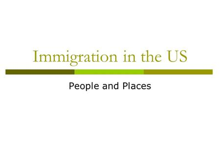 Immigration in the US People and Places. The Colonial Period  French established colonies in the lower Mississippi Valley (New Orleans 1718) where the.