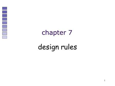 1 chapter 7 design rules. 2 Designing for maximum usability – the goal of interaction design Principles of usability –general understanding Standards.