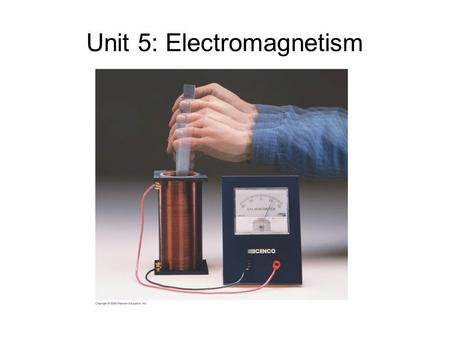 Unit 5: Electromagnetism. Day 1: Faraday's Law of Induction Objectives: Induced EMF Electromagnetic Induction Magnetic Flux Faraday's law of Induction.