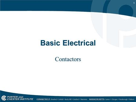 1 Basic Electrical Contactors. 2 A contactor is used to control an electric load in a control system. Contactors make or break a set of contacts that.