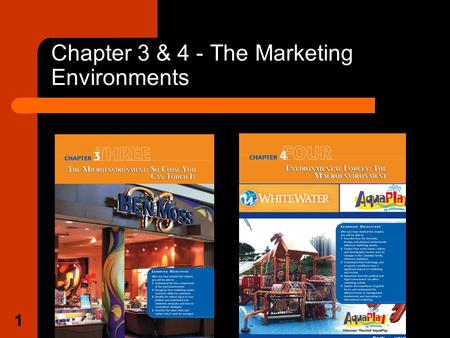 1 Chapter 3 & 4 - The Marketing Environments. 2 The Marketing Environment Consist of the internal (microenvironment) and the external environment (macroenvironment).