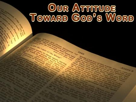 God's word is Scripture – communication with man 2 Tim. 3:16-17 inspiration, profitable, equips us, complete 2 Pet. 1:19-21 not human will, moved by God.