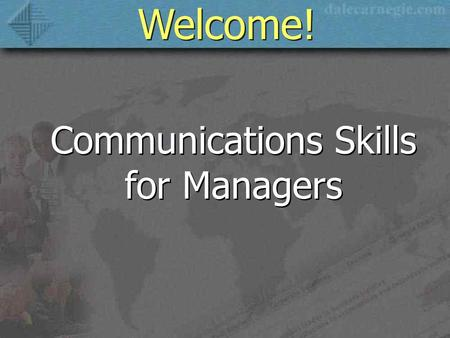 Communications Skills for Managers