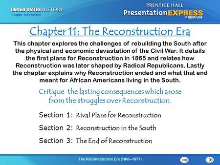 an introduction to the reconstruction era