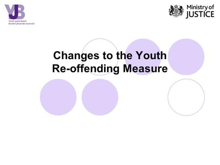 Changes to the Youth Re-offending Measure. YJB position statement The YJB supports the concept of the new measure and the advantages it presents for aligning.