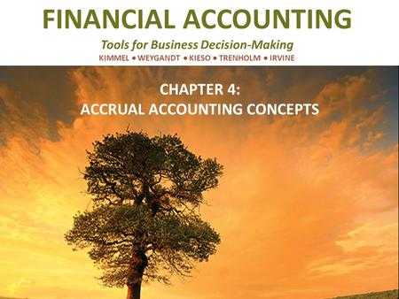 CHAPTER 4: ACCRUAL ACCOUNTING CONCEPTS