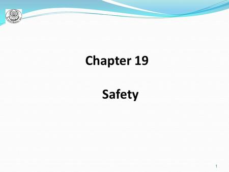 1 Chapter 19 Safety. 2 Major nursing responsibility Hospital errors: ranked as sixth leading cause of death by Centers for Disease Control and Prevention.