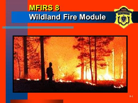 8-1 MFIRS 8 Wildland Fire Module. 8-2 Optional Wildland Fire Module The State Fire Marshal will accept this data… Currently this module does not replace.