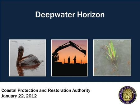 Coastal Protection and Restoration Authority January 22, 2012 Deepwater Horizon.