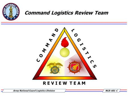 NGB-ARL-CArmy National Guard Logistics Division Command Logistics Review Team.