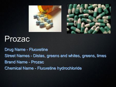 Prozac names
