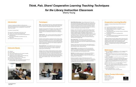 Introduction Cooperative Learning can be defined as collaboration in an instructional setting either between or among members of small groups that achieves.