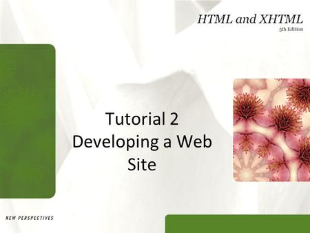 Tutorial 2 Developing a Web Site. XP Objectives Learn how to storyboard various Web site structures Create links among documents in a Web site Understand.