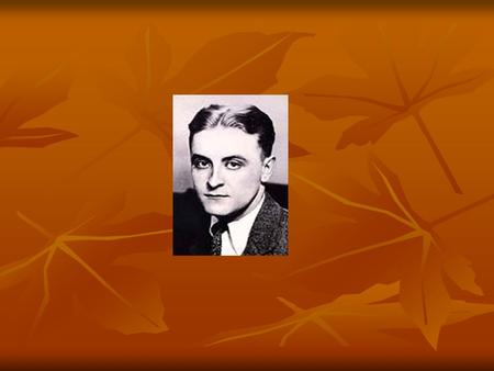 F. Scott Fitzgerald  September 24, 1896: Francis Scott Key Fitzgerald was born in St. Paul, Minnesota  His father, Edward Fitzgerald failed as a manufacturer.