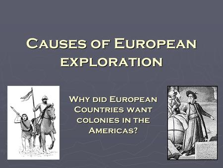 European expansion in the americas