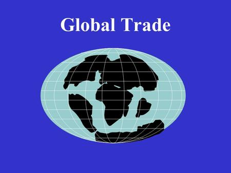 Global Trade. Question What is International Trade?