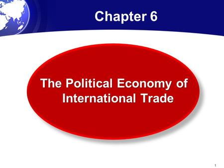 Chapter 6 The Political Economy of International Trade 1.