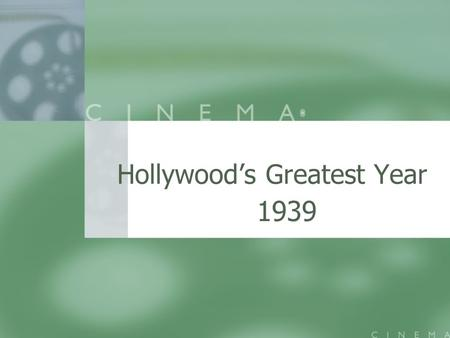 Hollywood's Greatest Year 1939. 1939 AFI 5 Films from 1989 made the AFI's list of 100 greatest films: 5 Films from 1989 made the AFI's list of 100 greatest.