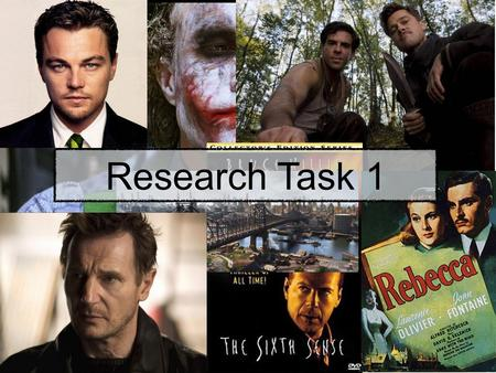 Adam Barnard Research Task 1. What is Genre? Genre is the name given to a film with a certain narrative or a film that has distinctive characteristics.