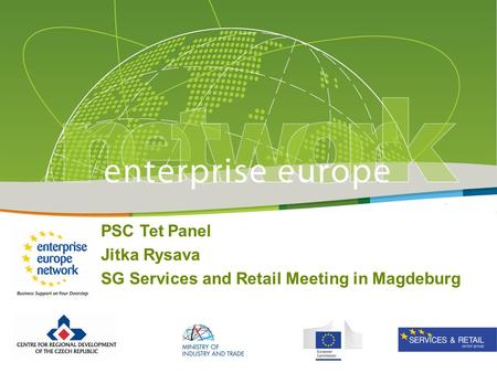 PSC Tet Panel Jitka Rysava SG Services and Retail Meeting in Magdeburg.
