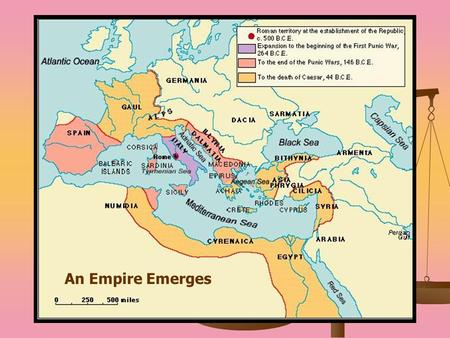 An Empire Emerges. Republic to Empire Marius = A general who recruited soldiers from the poor and promised them land if they swore allegiance to him Marius.
