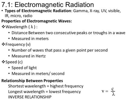 7.1: Electromagnetic Radiation