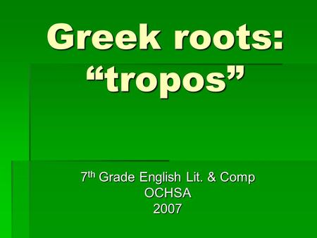 Greek Thesis