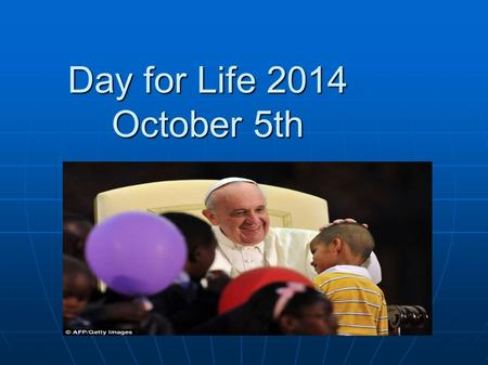 Day for Life 2014 October 5th. #Livelife - Protect and Cherish Life Pope Francis knows and loves young people. At World Youth Day in Rio last year, to.