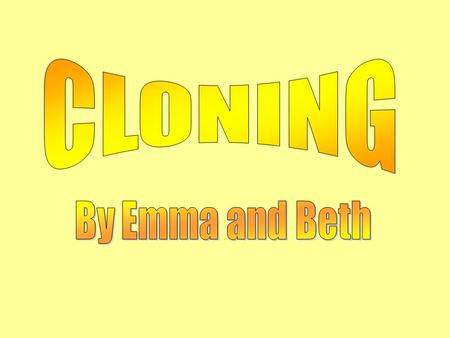 In this presentation we are going to give our arguments for and against cloning. We will be focusing mainly on human cloning…… And some animal cloning.