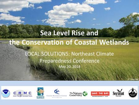 R. Hancock Sea Level Rise and the Conservation of Coastal Wetlands LOCAL SOLUTIONS: Northeast Climate Preparedness Conference May 20, 2014.