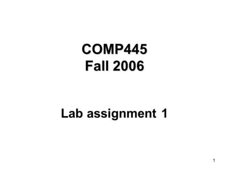 1 COMP445 Fall 2006 Lab assignment 1. 2 STEP1: Get the name of the second party STEP2: Get phone number from white pages CALLERRECEIVER STEP1: Plug the.