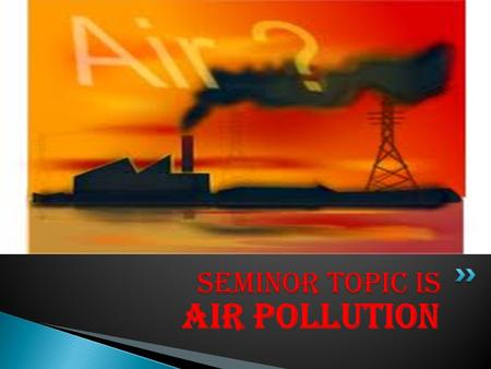 air pollution research topics